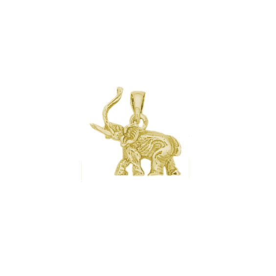Pendentif éléphant plaqué or - La Petite Française