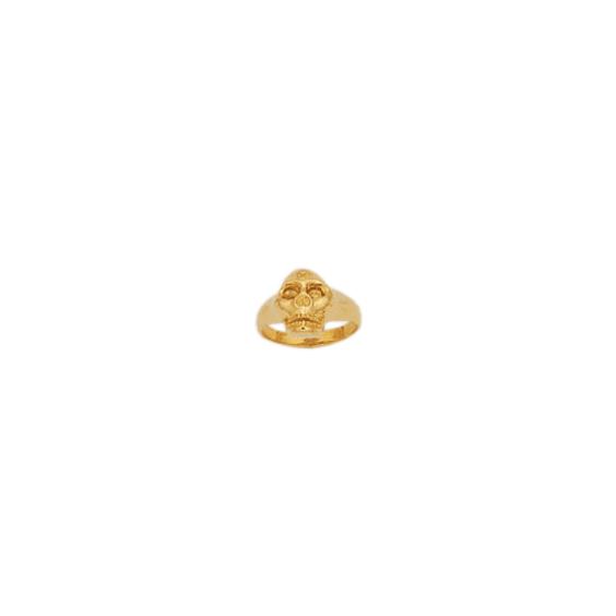 Bague crâne plaqué or - La Petite Française