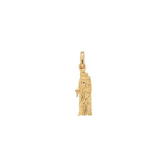 Pendentif Vierge à l'enfant de Notre-Dame plaqué or  - La Petite Française