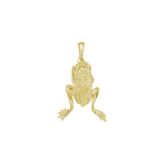 Pendentif grenouille plaqué or - La Petite Française