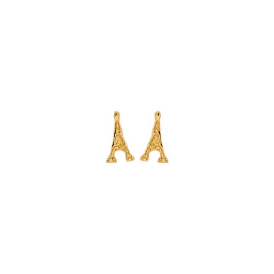 Boucles d'oreilles tour Eiffel plaqué Or - La Petite Française