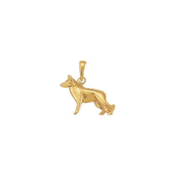Pendentif chien berger Allemand plaqué or - 20 MM - La Petite Française