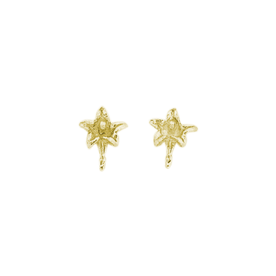 Boucles d'oreilles fleur gentiane plaqué or - La Petite Française