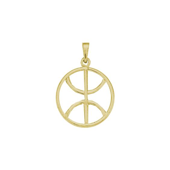 Pendentif Berbère cercle plaqué or - 33 MM - La Petite Française