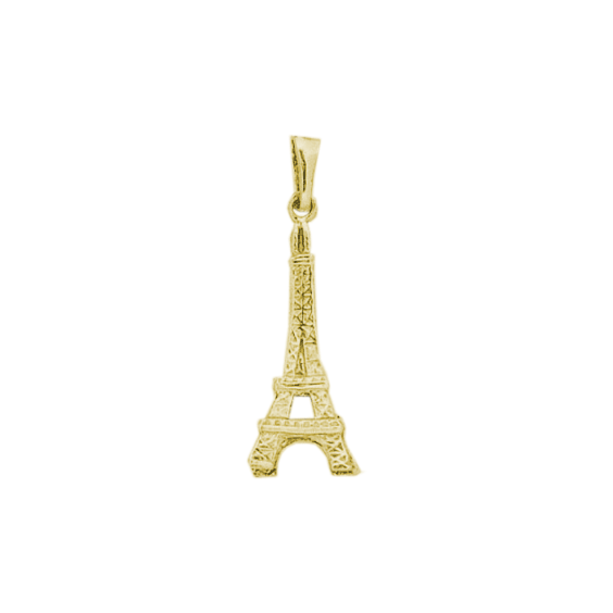 Pendentif tour Eiffel plaqué Or - 35 MM - La Petite Française