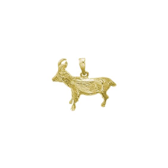 Pendentif chamois plaqué or - La Petite Française