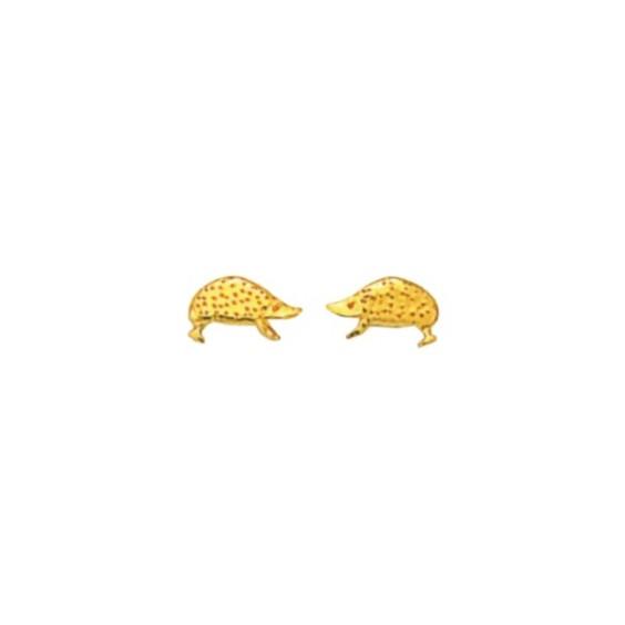 Boucles d'oreilles hérissons plaqué or - La Petite Française