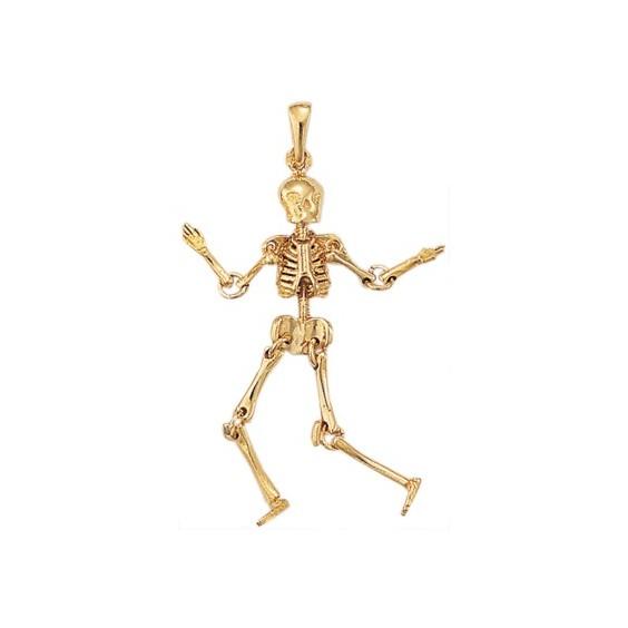 Pendentif squelette en plaqué or - La Petite Française