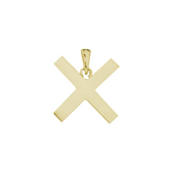 Croix de saint-André plaqué or - La Petite Française