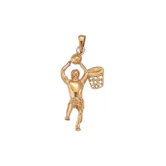 Pendentif Basketteur plaqué or - La Petite Française