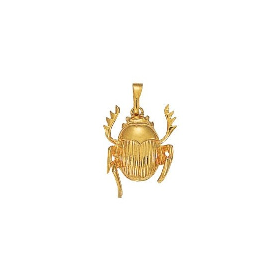 Pendentif scarabée plaqué or - 27 MM - La Petite Française