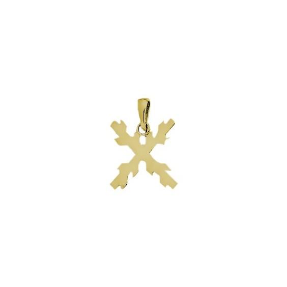 Croix de bourgogne plaqué or - La Petite Française