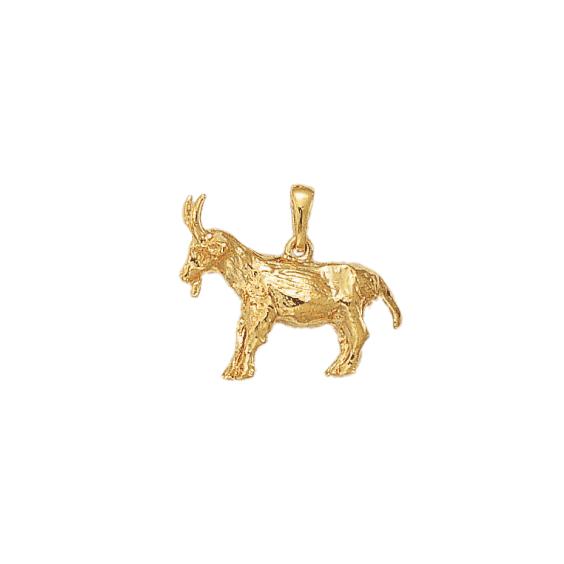 Pendentif chèvre plaqué or - La Petite Française