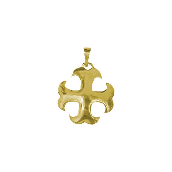 Croix Cathare en plaqué or - La Petite Française