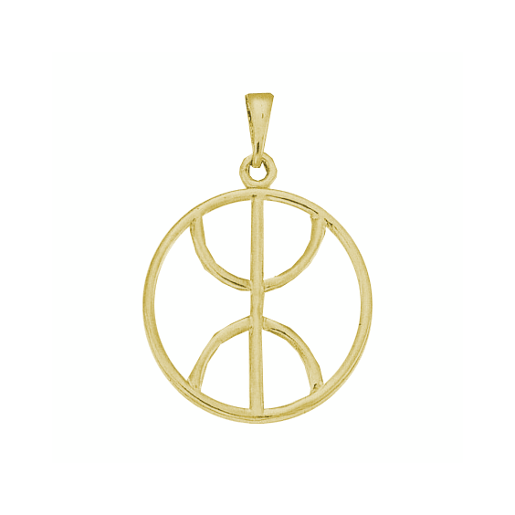 Pendentif Berbère cercle plaqué or - 43 MM - La Petite Française