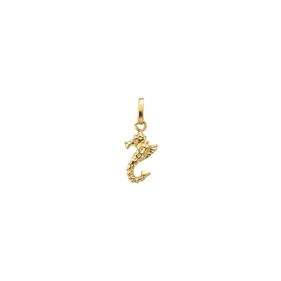 Pendentif Hippocampe plaqué or - La Petite Française