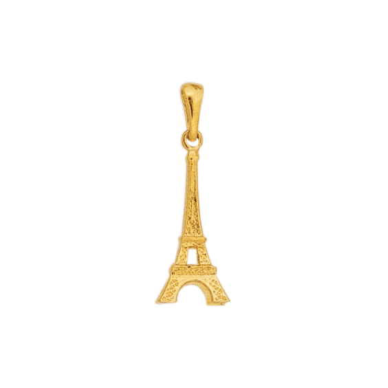 Pendentif tour Eiffel plaqué Or - 30 MM - La Petite Française