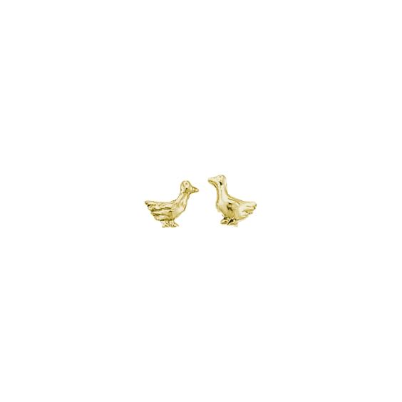 Boucles d'oreilles oies plaqué or - La Petite Française