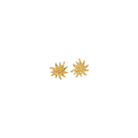 Boucles d'oreilles edelweiss plaqué or - La Petite Française
