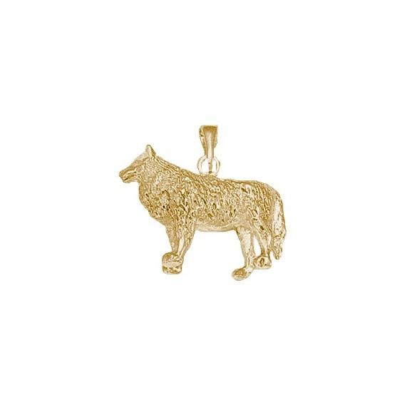 Pendentif loup plaqué or - La Petite Française