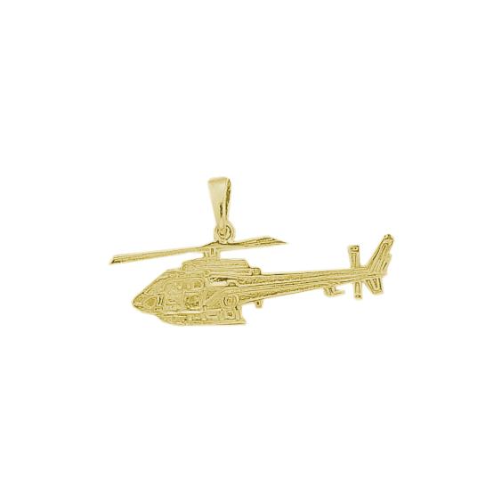 Pendentif hélicoptère Ecureuil plaqué or - La Petite Française