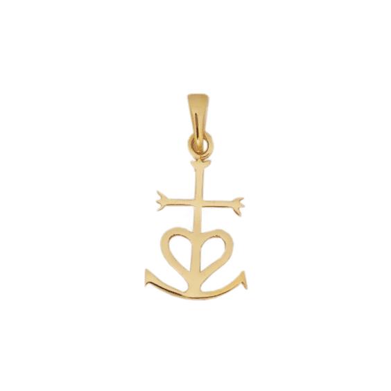 Croix Camarguaise plaqué or - La Petite Française