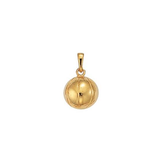 Pendentif ballon de basket-ball plaqué or - La Petite Française