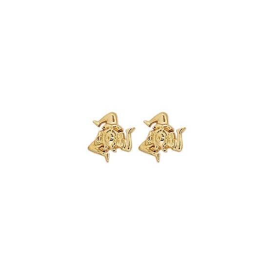 Boucles d'oreilles Trinacria plaqué or - La Petite Française