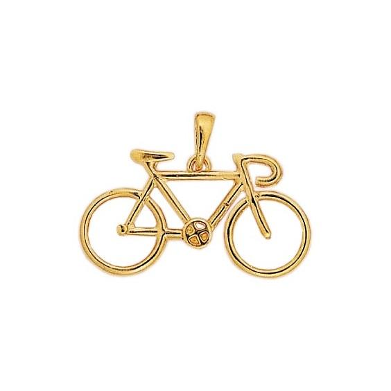 Pendentif vélo plaqué Or - La Petite Française