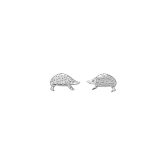 Boucles d'oreilles hérissons argent - La Petite Française