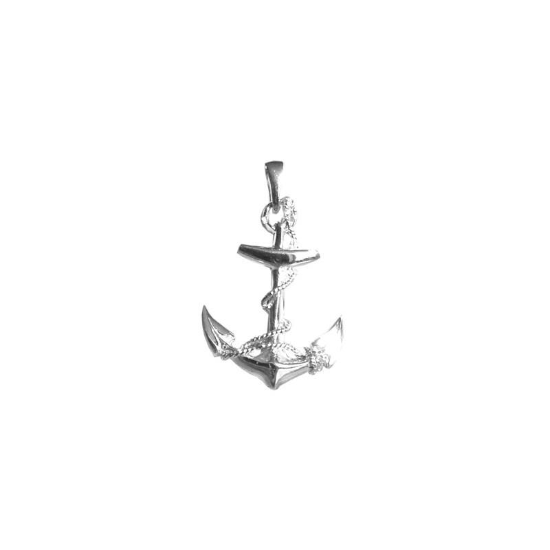 Pendentif ancre marine GM argent - 33 MM - La Petite Française
