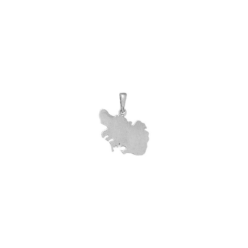 Pendentif carte Morbihan argent - 20 MM - La Petite Française