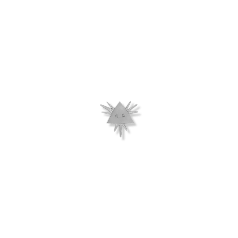 Pendentif ou pin's triangle et oeil argent - La Petite Française