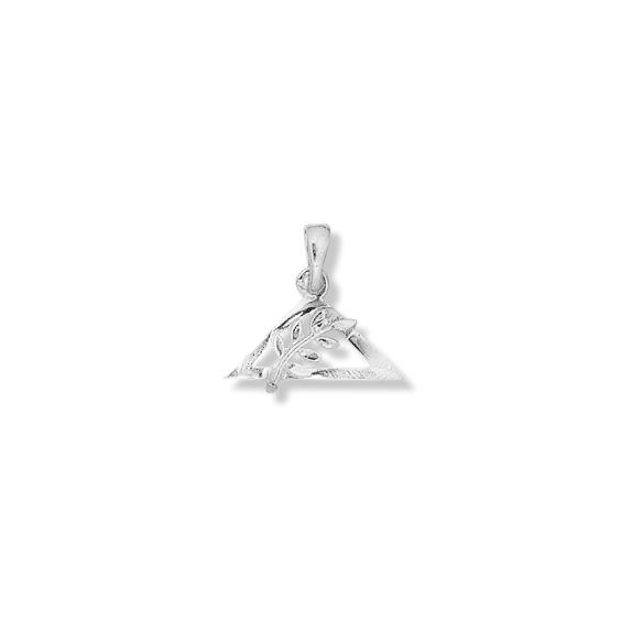 Pendentif ou pin's triangle et acacia argent - La Petite Française