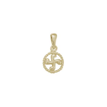 Croix Basque cercle PM argent - La Petite Française