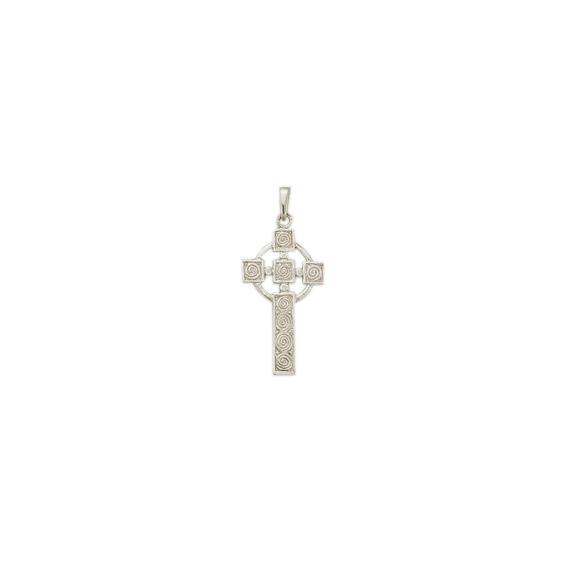 Croix Celtique argent - 41 MM - La Petite Française