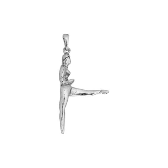 Pendentif gymnaste argent - La Petite Française