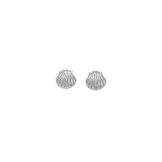 Boucles d'oreilles Coquille Saint-Jacques argent - La Petite Française