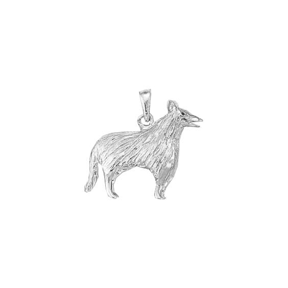 Pendentif chien Colley argent - 25 MM - La Petite Française