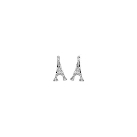 Boucles d'oreilles tour Eiffel argent - La Petite Française