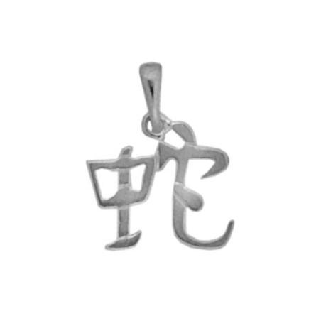Pendentif signe chinois serpent argent - La Petite Française