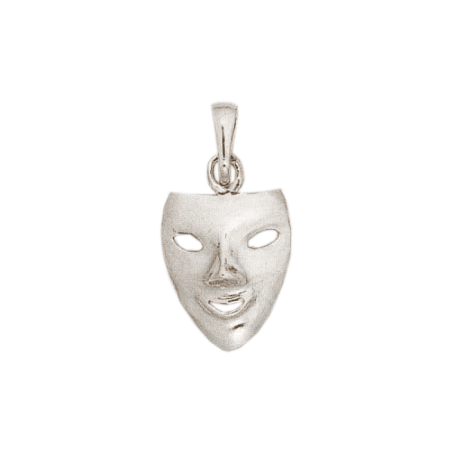 Pendentif masque argent - La Petite Française