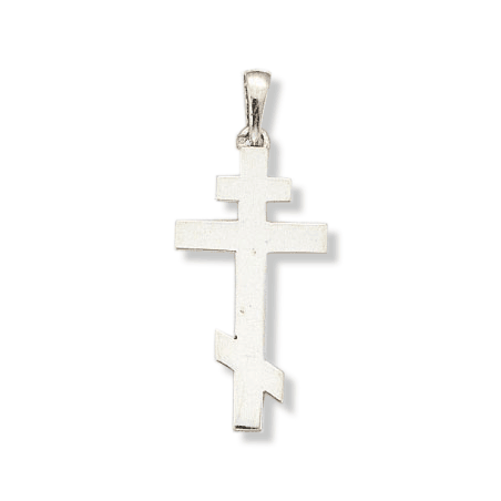 Croix Orthodoxe en argent - La Petite Française