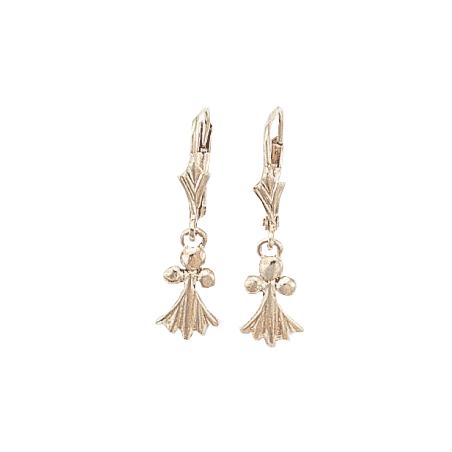 Boucles d'oreilles pendantes hermine argent - La Petite Française