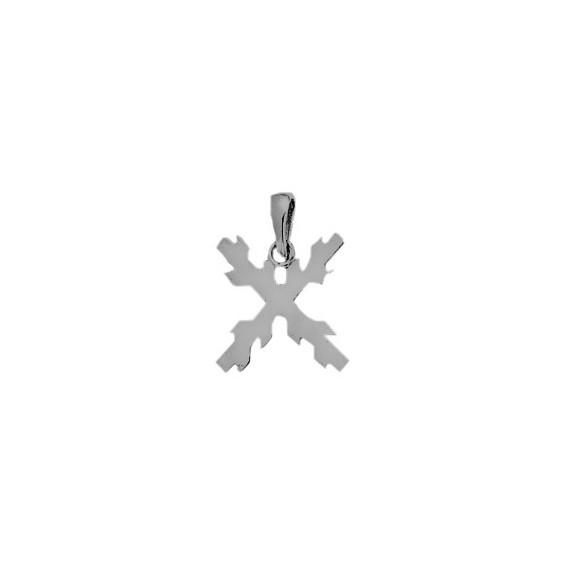 Croix de bourgogne argent - La Petite Française