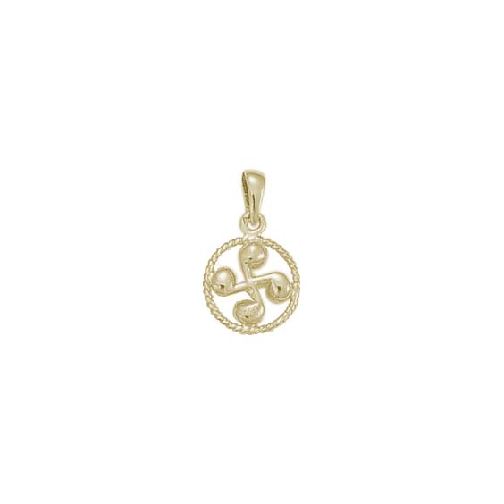 Croix Basque cercle MM argent - La Petite Française