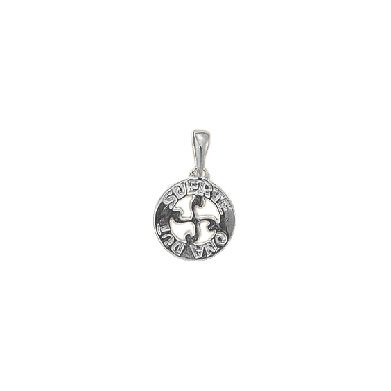 """Pendentif croix Basque """" SUERTE ONA DUT """"PM argent - La Petite Française"""