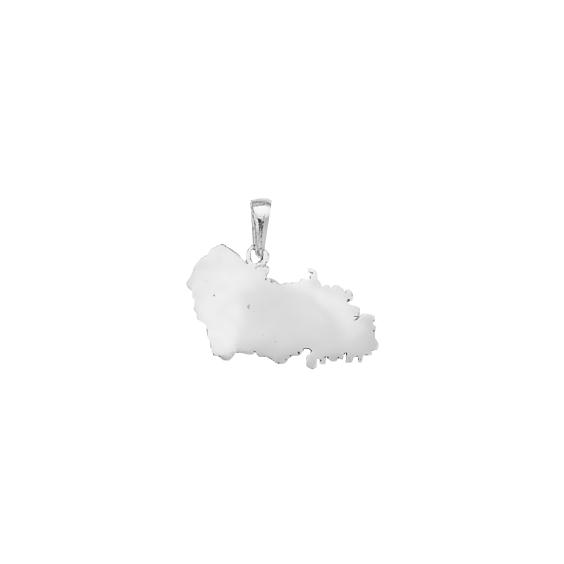 Pendentif carte Pas de Calais argent - La Petite Française