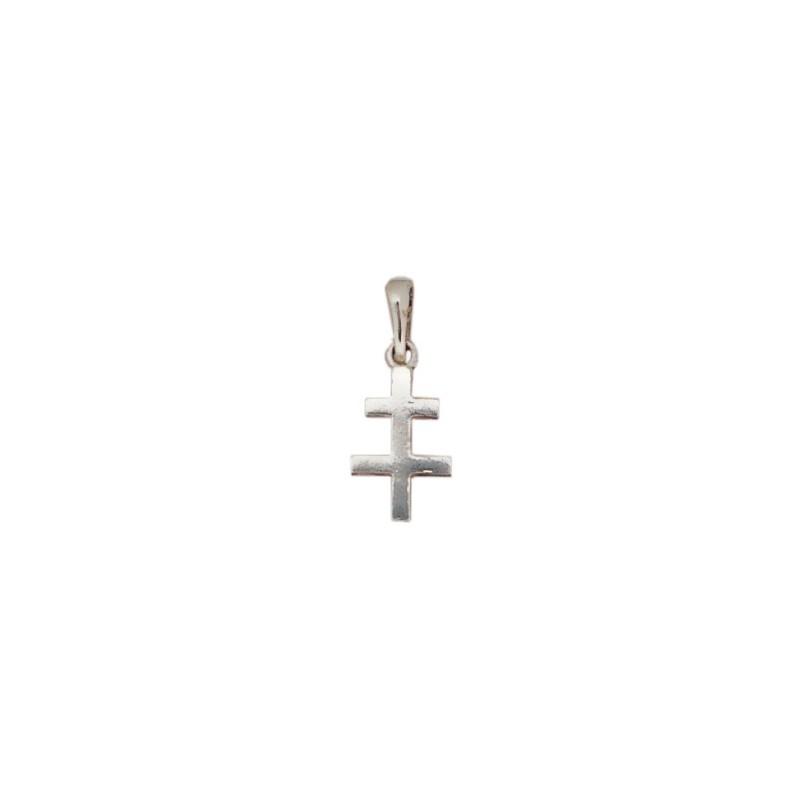 Croix de Lorraine PPM argent - La Petite Française