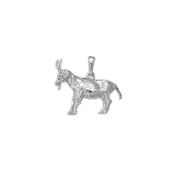Pendentif chèvre argent - La Petite Française